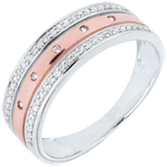Ring Enchantment - Crown of Stars - large model - rose gold, white gold - 9 carat