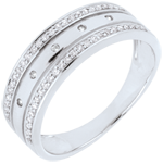 gifts women Ring Enchantment - Crown of Stars - large model - white gold, diamonds - 18 carat