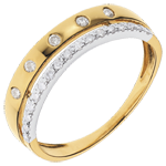 gift Ring Enchantment - Crown of Stars - small - yellow gold
