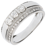 wedding Ring Enchantment - half trilogy paved - 0.77 carat - 57 diamonds