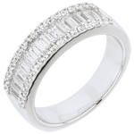 gold jewelry Ring Enchantment - Infinite Light - 49 diamonds: 1.63 carats