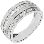 gift women Ring Enchantment - Milky Way - 0.7 carat - 43 diamonds