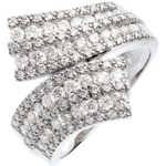 wedding Ring Enchantment - Scarf paved - 1.1 carat - 108 diamonds