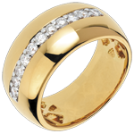 Ring Enchantment - Solar Radiance - yellow gold - 11 diamonds: 0.37 carats
