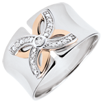 sales on line Ring Freshness - Lilies of summer - white gold, rose gold - 18 carats