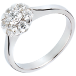 Ring Freshness - Magnolia - white gold - 0.88 carat - 7 diamonds