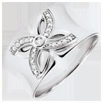 Ring Frisheid - Zomerbloem - wit goud en diamanten