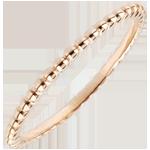 Ring Gezouten Bloem - roze goud - 9 karaat