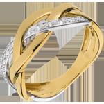 Geschenk Frau Ring Glänzernder Zopf - Gelbgold