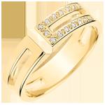Geschenk Frauen Ring Gloria - 15 Diamanten - Gelbgold 18 Karat