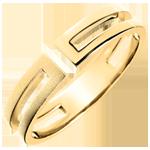Geschenke Ring Gloria - gebürstetes Gelbgold 18 Karat