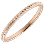gifts women Ring Golden Rope - Pink Gold