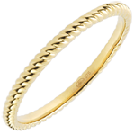 gifts women Ring Golden Rope - yellow gold