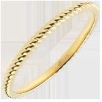 Geschenke Ring Goldenes Seil - Gelbgold
