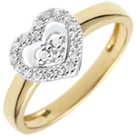 Verkäufe Ring Herz Paris - Zweier Goldlegierungen