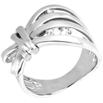 gift woman Ring Imaginary walk - Camouflage - white gold