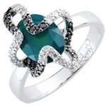 gifts women Ring Imaginary Walk - Medusa - Silver, diamonds and fine stones