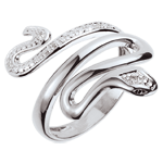 gifts woman Ring Imaginary Walk - Precious Menace - White Gold and diamonds - 9 carats