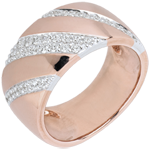 gold jewelry Ring Intense - rose gold. white gold and diamonds
