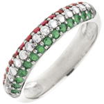 gifts women Ring Italian Flag - Gold, diamonds and precious stones