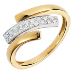 Online Kauf Ring Katzenspuren - Gelbgold und Weißgold
