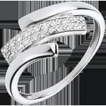 Juwelier Ring Katzenspuren - Weißgold