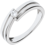 Juwelier Ring Kostbarer Kokon - Salomé - Weißgold - 0. 11 Karat- 9 Karat