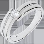 Juweliere Ring Kostbarer Kokon - Salomé - Weißgold - 18 Karat