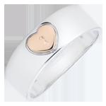 Geschenke Ring Kostbares Geheimnis - Herz - Roségold, Weißgold