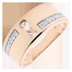 Schmuck Ring Kostbares Geheimnis - Roségold und Diamanten - 18 Karat