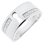 Ring Kostbares Geheimnis - Weißgold und Diamanten - 18 Karat