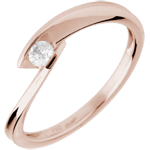 Ring Kreek Wit Goud - 0.11 karaat Diamant