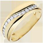 Ring Liefde - Multi-diamanten - geel goud - 18 karaat