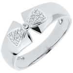 Ring Little Bow Amelia - White gold