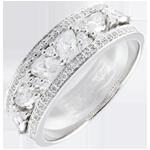 Ring Lotsbestemming - Byzantijns - wit goud en diamanten - 18 karaat