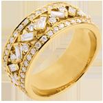 gouden juweel Ring Lotsbestemming - Keizerin - geel goud diamanten - 0.85 karaat
