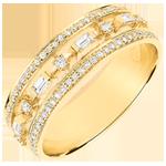 Ring Lotsbestemming - Kleine Keizerin - 71 diamanten - geel goud 9 karaat