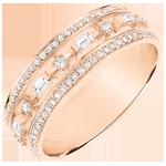 Ring Lotsbestemming - Kleine Keizerin - 71 diamanten - roze goud 9 karaat