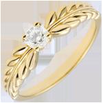Ring Magische Tuin - Solitair Fresia - geel goud - 0,20 karaat - 18 karaat
