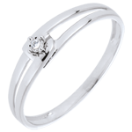 gold jewelry Ring Modernity diamond - White gold