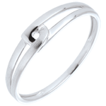 gifts woman Ring Modernity - White gold