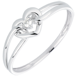 gifts women Ring My Love - white gold. diamonds
