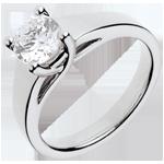 Schmuck Ring nach Maß 30093 - Solitär Ring in Weissgold - 1 Karat