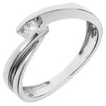 Ring Nid Précieux - Ondine - Wit Goud - 1 Diamant 0.07 carat - 18 karaat