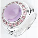 Geschenk Frauen Ring Orthense - Silber und Halbedelsteine