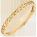 Goldschmuck Ring Paradiesvogel - Einerreihe - Gelbgold und Gelber Citrin