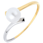 weddings Ring Pearl Olympia - Two golds