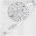 Ring Penelope - wit goud 9 karaat en diamanten