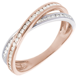 women Ring - Pink gold and diamond