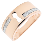 Ring Precious Secret - rose gold and diamonds - 18 carat